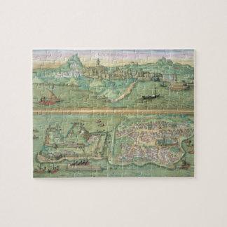 Mapa de Candia y de Corfú, de 'Civitates Orbis Ter Rompecabeza