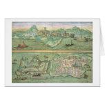 Mapa de Candia y de Corfú, de 'Civitates Orbis Ter Tarjeta