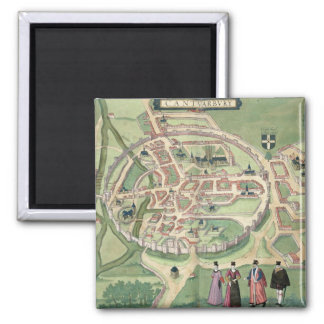 Mapa de Cantorbery, de 'Civitates Orbis Terrarum Imán Cuadrado