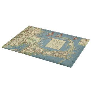 Mapa de Cape Cod del vintage (1940) Tabla Para Cortar
