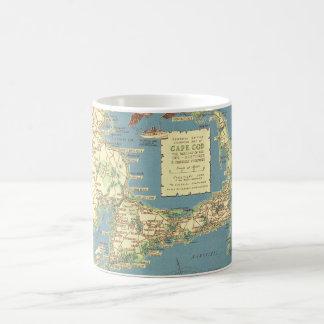 Mapa de Cape Cod del vintage (1940) Taza