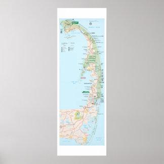 Mapa de Cape Cod Póster