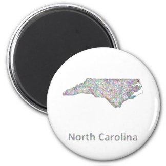 Mapa de Carolina del Norte Imán Redondo 5 Cm
