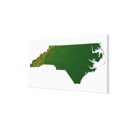Mapa de Carolina del Norte Lona Estirada Galerias