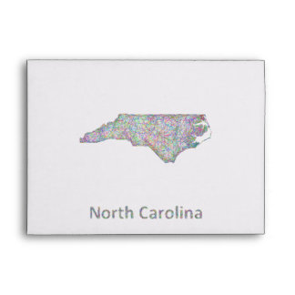 Mapa de Carolina del Norte Sobres