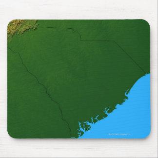 Mapa de Carolina del Sur 2 Alfombrillas De Raton