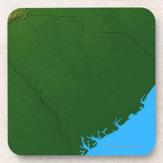 Mapa de Carolina del Sur 2 Posavasos De Bebida