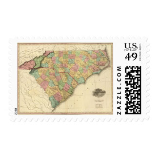 Mapa de Carolina norte-sur Franqueo