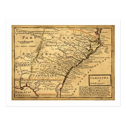 Mapa de CarolinaPanoramic Postal