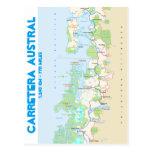 Mapa de Carretera austral Tarjetas Postales