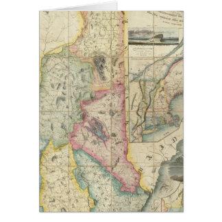 Mapa de Carrigain de New Hampshire Tarjeton