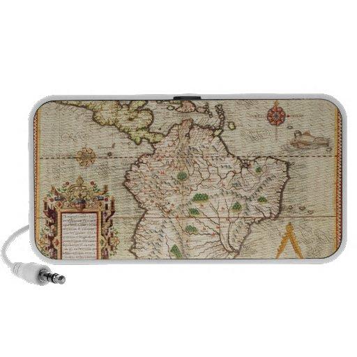 Mapa de central y de Suramérica Altavoz De Viaje