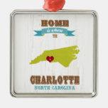 Mapa de Charlotte, Carolina del Norte - casero es  Ornato