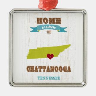 Mapa de Chattanooga, Tennessee - casero es donde Adorno Para Reyes