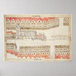 Mapa de Cheapside, Londres, 1585 Impresiones