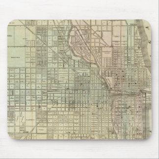 Mapa de Chicago Alfombrillas De Raton