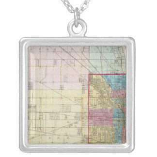 Mapa de Chicago Collar Personalizado