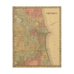 Mapa de Chicago de Mitchell Cuadros De Madera