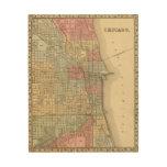 Mapa de Chicago de Mitchell Impresiones En Madera