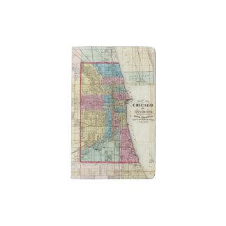 Mapa de Chicago Funda Para Libreta Y Libreta Pequeña Moleskine