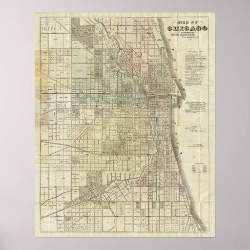 Mapa de Chicago Impresiones