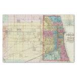 Mapa de Chicago Papel De Seda Pequeño