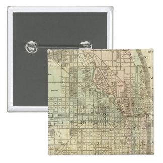 Mapa de Chicago Pin Cuadrada 5 Cm
