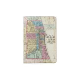 Mapa de Chicago Porta Pasaporte