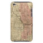 Mapa de Chicago que muestra el distrito quemado Barely There iPod Coberturas
