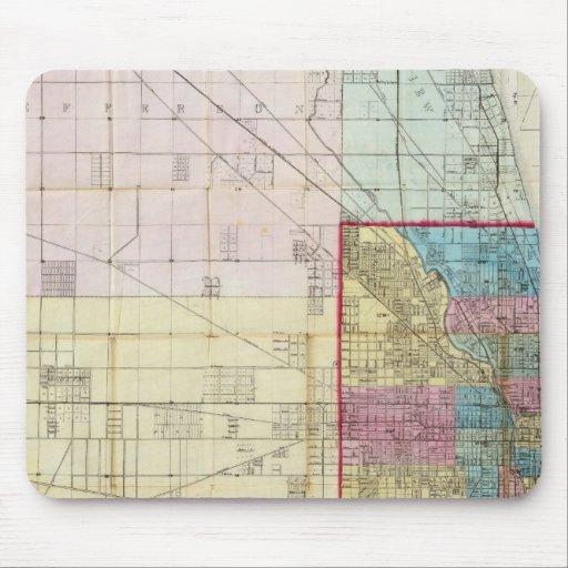 Mapa de Chicago Tapete De Ratones
