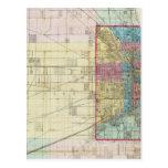 Mapa de Chicago Tarjetas Postales