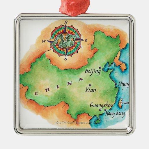 Mapa de China Adorno De Reyes