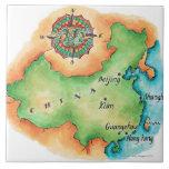 Mapa de China Azulejos Cerámicos