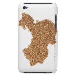 Mapa de China continental hecho del arroz pegajoso iPod Case-Mate Cárcasas
