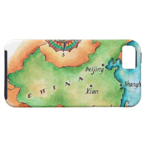 Mapa de China Funda Para iPhone 5 Tough