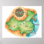 Mapa de China Póster