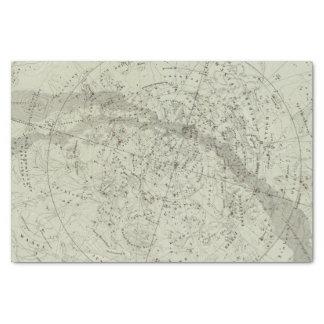 Mapa de cielo nocturno del Norther Papel De Seda Pequeño