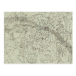Mapa de cielo nocturno del Norther Tarjetas Postales