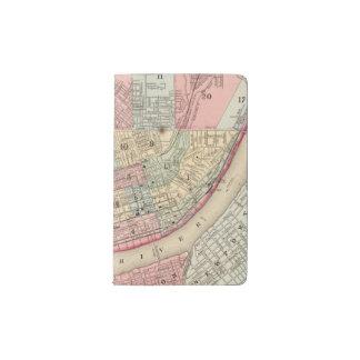 Mapa de Cincinnati de Mitchell Funda Para Libreta Y Libreta Pequeña Moleskine