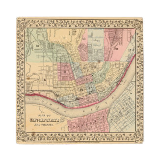 Mapa de Cincinnati de Mitchell Posavasos De Arce