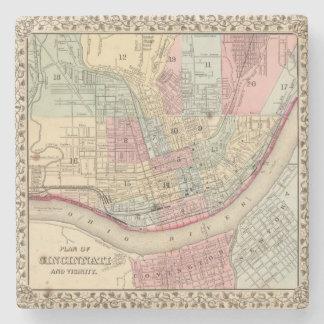 Mapa de Cincinnati de Mitchell Posavasos De Piedra