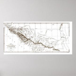 mapa de CIRCASSIA1840 Poster