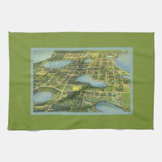 Mapa de Clermont la Florida desde arriba Toallas De Mano