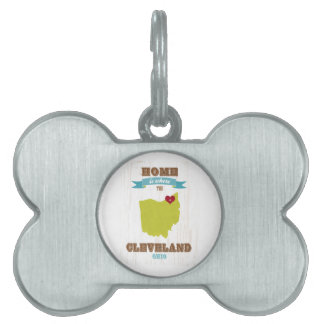 Mapa de Cleveland, Ohio - casero es donde está el  Placa Mascota