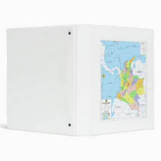 Mapa de Colombia Map of Colombia 3 Ring Binder