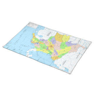 Mapa de Colombia Map of Colombia Cloth Placemat