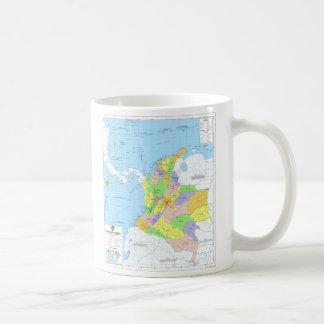 Mapa de Colombia Map of Colombia Coffee Mug
