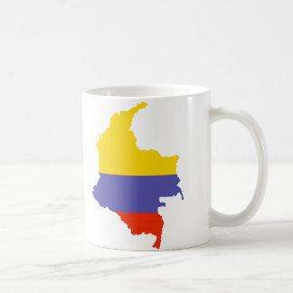 Mapa de Colombia Taza Clásica