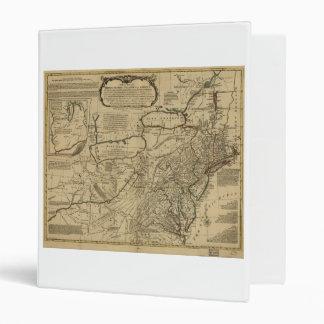 """Mapa de colonias británicas en América (1771) Carpeta 1"""""""