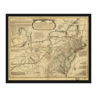 Mapa de colonias británicas en América (1771) Impresión En Lienzo Estirada